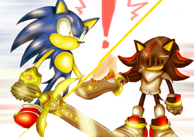 sonic vs Sir Lancelot by missyuna
