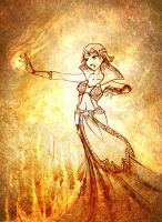The fire mage -sketch- by Ethevian