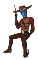 Cad Bane is a Supermodel by toxicZodiac
