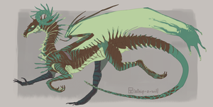 Lich dragon - [Hatched egg - Calypso] by Whip-o-will