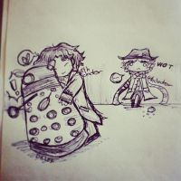 8th doctor and dalek by lovescraf