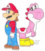 Red and Pink by N64chick