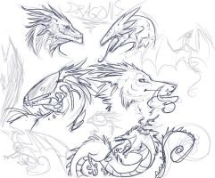 Doodle Dragons... by Remarin