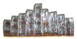 Menorah with Spirals by aberrantceramics