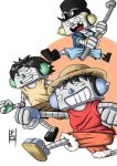 Luffy, Ace e Sabo by Daivictor