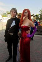 Luke Skywalker and Jessica Rabbit Cosplay by KyleStyle26
