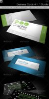 Business cards 4 in 1 Bundle by HollowIchigoBanki
