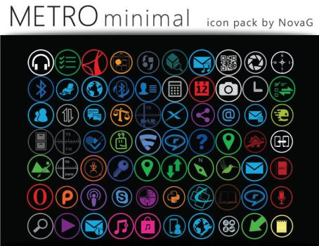 Metro Minimal Icon Pack by Nova-G