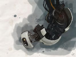 Glados Watercolor DIGITAL PAINTING by GuilhermeATV