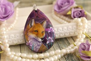 Fox and irises I by LunarFerns