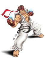 "Ryu: "" intense "" Coloured by Thrakks"