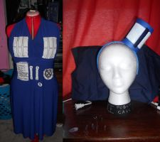 TARDIS Dress and headband by IMarriedMyFandoms