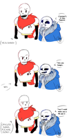 Comic of Sans.. and Papyrus by RhinestoneArts