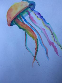 Watercolor jelly by The3rdAge