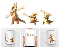 Cubones and Marowak Shirt, Mugs, etc. by francis-john