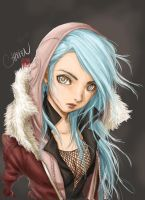 blue hair by chisien