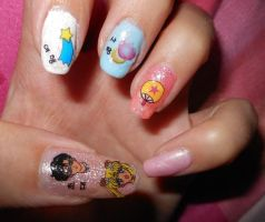 Sailor Moon Nail Art II by LexCorp213