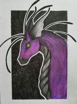Sky dragon portrait  by Polkadotdiva