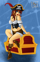Pirate Pinup Final by CyborgBeefJerky