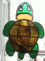 Stained Glass Turtle by littlehappypanda