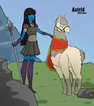 PF Astrid and Llama by Jovey4