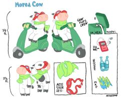 Moped Cow model sheet by donteatthefish