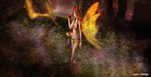 Apple Harvest Fairy by MeryllPanthar