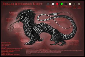 Zeakar reference sheet by AudioSonora