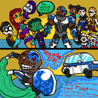Teen Titans- ROAD TRIP Part 1 by nitro-echidna