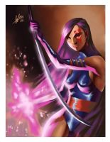 Psylocke by Wilustra