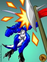 Justin Blue Roo by Lysozyme