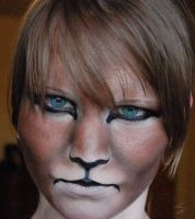 lion face makeup by zinth-vien