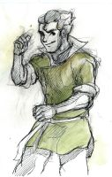 Korra sketch 2: Bolin by winderly
