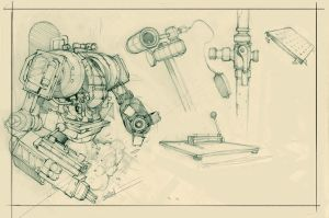 Random sketch_ worker_03.05. by Krivio
