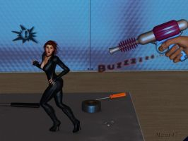 Shrunken Black Widow by maur47