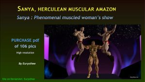 Sanya, phenomenal muscled woman's show by eurysthee