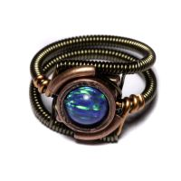 Steampunk Ring Turquoise Opal by CatherinetteRings
