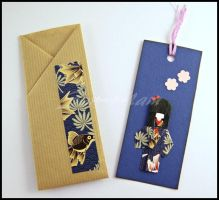 Bookmark - Blu - Little Japanese Doll by SuniMam