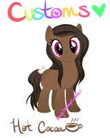 My Little Customs - Hot Chocolate Pony Custom! by MyLilAdoptables
