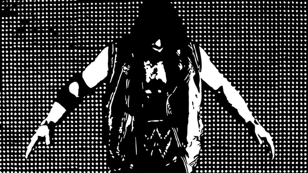 Aj Styles Black and White Wallpaper 3 by rosolinio