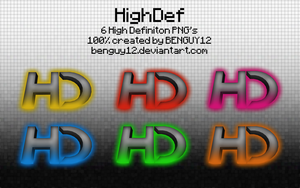HighDef icons by Benguy12