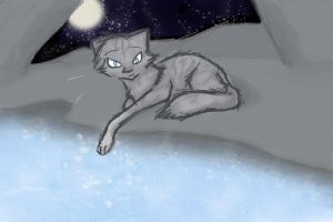 Jayfeather at the Moonpool by JediMasterQuill