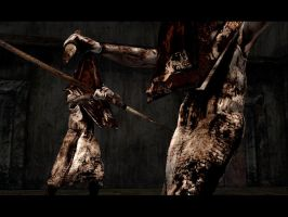 Silent Hill 2 Piramid Heads by ParRafahell