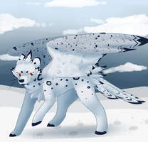 Dimitri the Snow Owlpard by Cat-Dragron