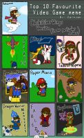 Top 10 Videogames With Tsushi by ChibiSilverWings