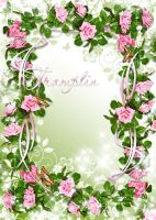 Frame for photo -  In roses by Tramplin-Tasi