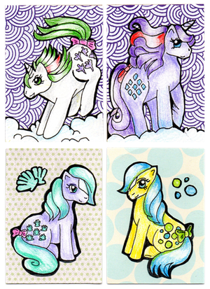 ATC sets: Gusty, Sparkle, Seashell and Bubbles by valurauta