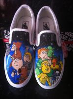 Family Guy Star Wars Vans by VeryBadThing