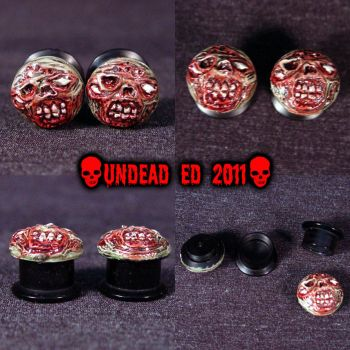 12mm Zombie Stretcher Plugs by Undead-Art