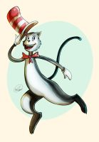 Cat in the Hat by GoldenMuseX